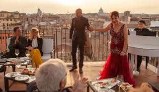 Spectacle et dîner d'opéra sur le toit : La grande beauté à Rome